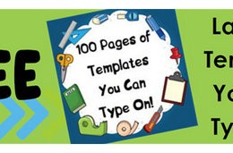Subscriber Freebie: 100 Pages of FREE Lapbook Templates You Can Type On!