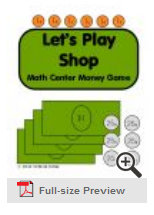 (Free) Let's Play Shop: Math Center Money Game