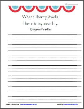 Free Benjamin Franklin Copywork