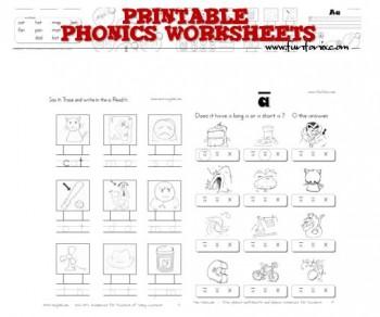 Number Names Worksheets free preschool phonics worksheets : Free Printable Phonics Worksheets | Free Homeschool Deals ©