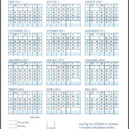 Free Printable Homeschool Attendance Calendar