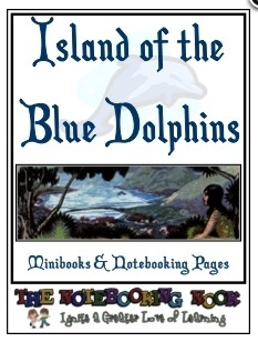 Free Island of the Dolphins Notebooking Pages