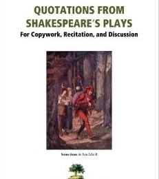 FREE Quotations from Shakespeare's Plays Copywork