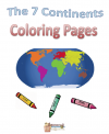 Free The 7 Continents Coloring Pages