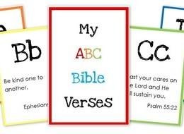 ABC Bible Verse Flashcard Printables