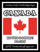 Country Study - Canada Notebooking Pages