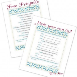 FREE: A Homeschool Mother's Miracles Come in CANs Printables