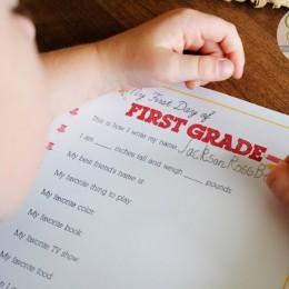 Free First Day of School Printables {Memory Keepsake}