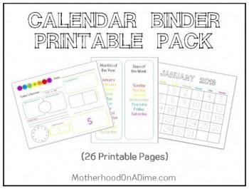 Free calendar printables