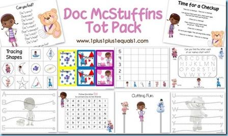 Free Homeschool Printables: Doc McStuffins Tot Pack