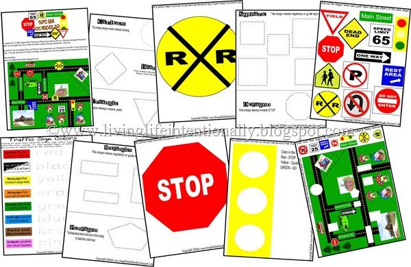 Free Preschool Printables Pack: Traffic Signs | Free Homeschool ...