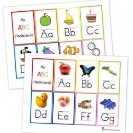 FREE Alphabet Flash Cards and Alphabet Wall Posters