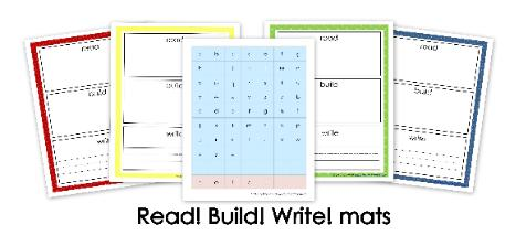 Read! Build! Write! Mats