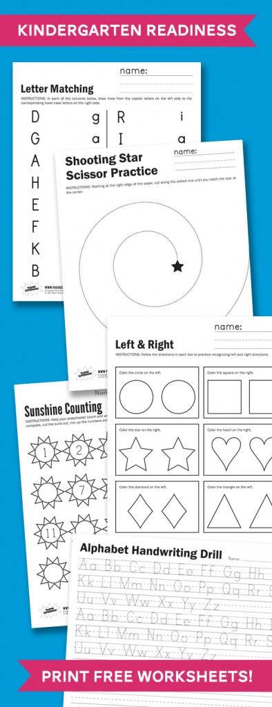 Free Kindergarten Readiness Printables   Free Homeschool ...