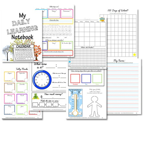 Free Daily Learning Notebook – Cursive Version