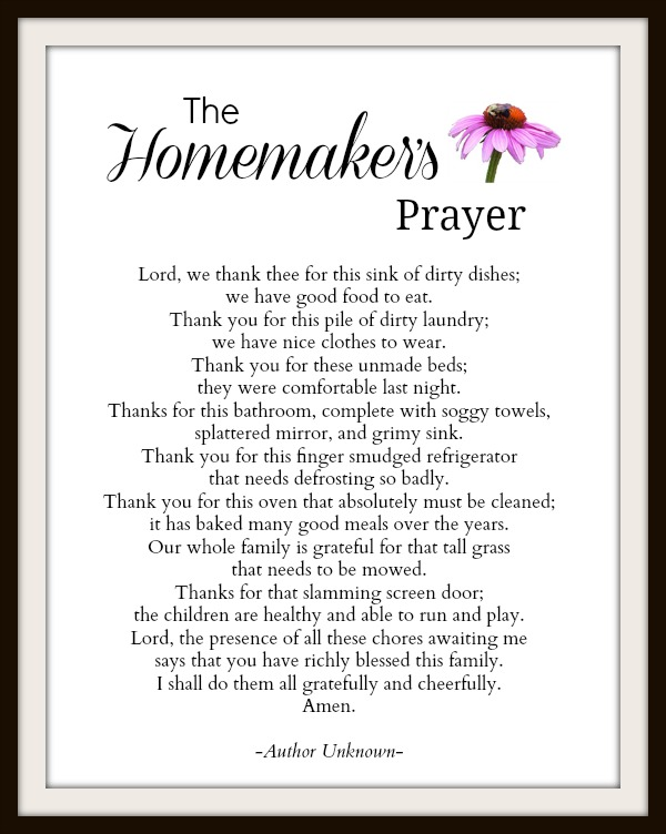 photo about Printable a identified as Absolutely free Printable: A Homemakers Prayer of Graude