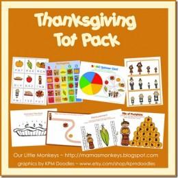 Free Thanksgiving Printables Tot Pack