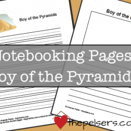 free Boy-of-the-Pyramids notebook pages