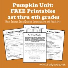 free pumpkin unit printables
