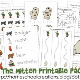 free printables the mitten