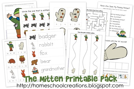 free printables the mitten