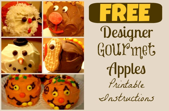 Free Designer Gourmet Apples Printable Instructions