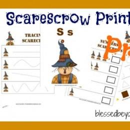free preschool scarecrow printables