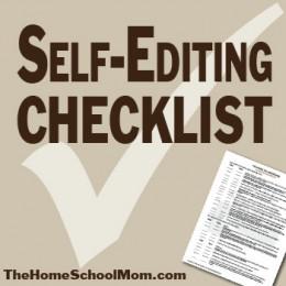 homeschool high school self editing checklist