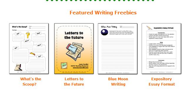 free writing printables