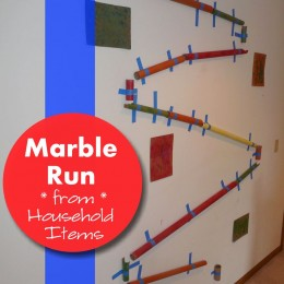 Make a DIY Marble Run from Household Items