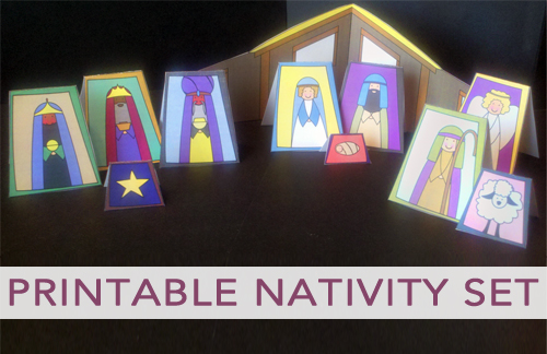 Free Printable Nativity Set
