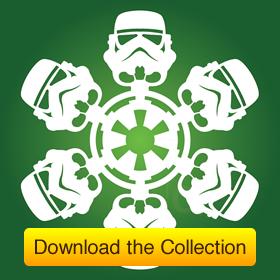 Free Download: DIY Star Wars Snowflakes