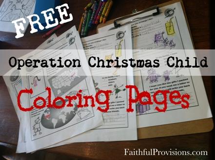 Operation Christmas Child Printables.Free Coloring Pages For Operation Christmas Child Shoeboxes