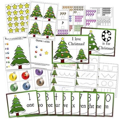 Free Christmas Preschool Printables