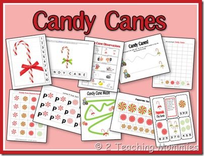 Free Candy Cane Printable Set