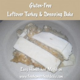 Easy Homeschool Meals: Gluten Free Leftover Turkey Bake