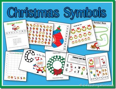 Free Preschool Printables: Christmas Symbols Set and Lesson Plan