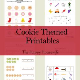Free Cookie Worksheets: Cookie Themed Printables
