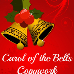 Free Carol of the Bells Cursive Copywork Download