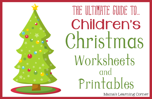 Number Names Worksheets free christmas work sheets : Free Christmas Worksheets and Printables on Mama's Learning Corner ...