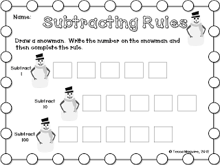 Free Snowman Place Value Worksheet