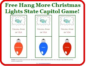Free Printable Christmas State Capitol Game