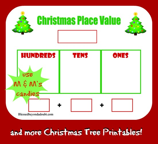Free Christmas Tree Place Value Worksheets