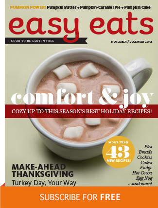 FREE Six Issue Digital Subscription to Easy Eats Gluten Free Magazine