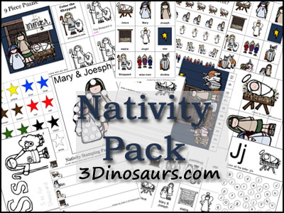 Free Christmas Printables: Nativity Pack (60-Pages)