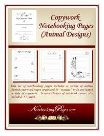Free Homeschool Copywork Notebooking