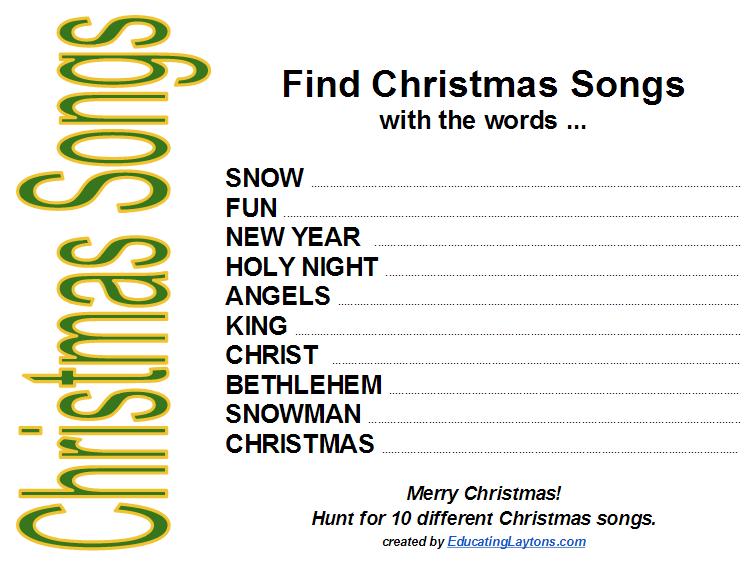 Free Christmas Scavenger Hunts
