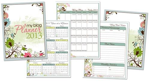 Free Blog Planner for 2013