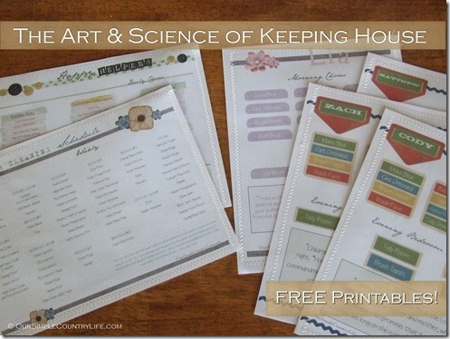Free Household Printables: The Art and Science of Keeping House