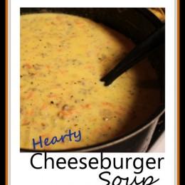 Hearty Cheeseburger Soup